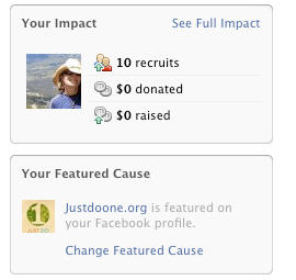 Just Do One has a Cause on Facebook!